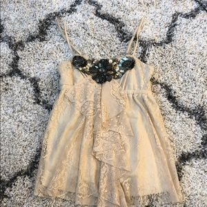 Wet seal lace and embellished top like free people
